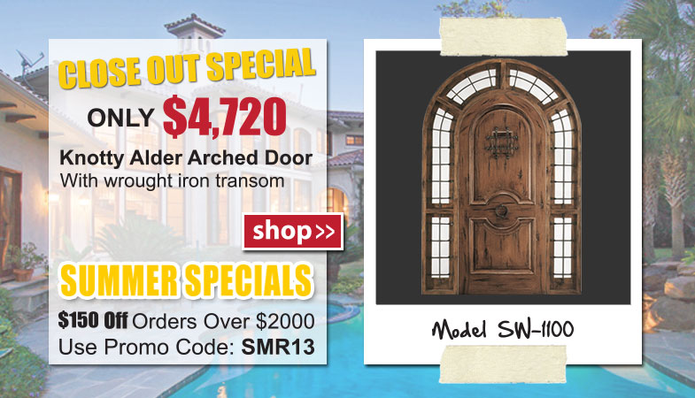 SW-1100 Knotty Alder Entry Door System