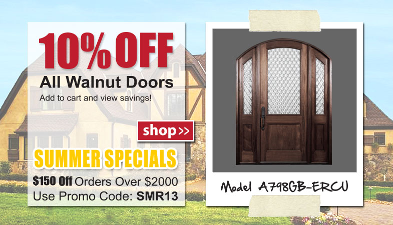 Exterior Walnut Entry Doors