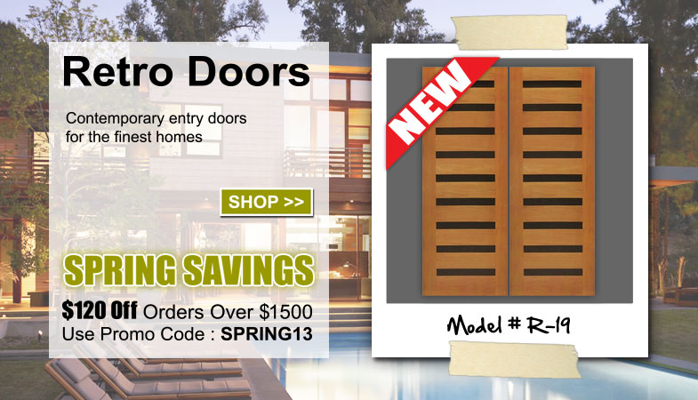 Retro Exterior Entry Doors