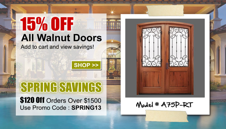 15% Off Alpine Walnut Entry Doors