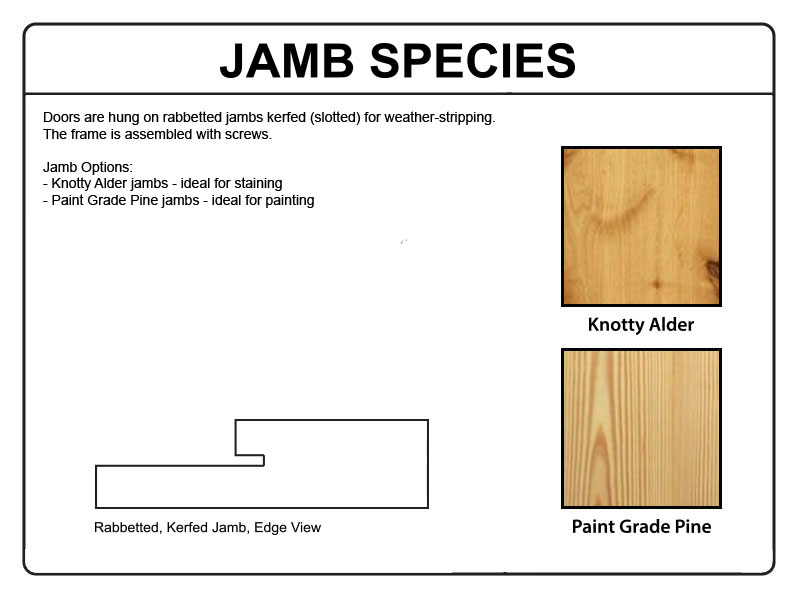 Doors Jambs: Pre-hung 2-Panel V-Grooved Knotty